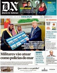 capa Diário de Notícias de 21 março 2018
