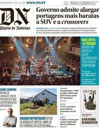 capa Diário de Notícias de 21 abril 2018