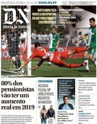 capa Diário de Notícias de 21 maio 2018