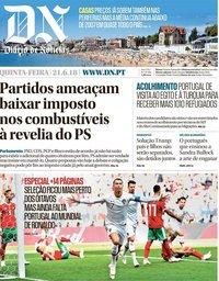 capa Diário de Notícias de 21 junho 2018