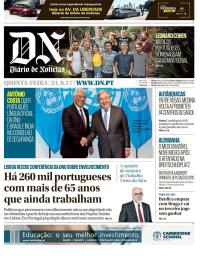 capa Diário de Notícias de 21 setembro 2017