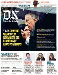 capa Diário de Notícias de 21 outubro 2017