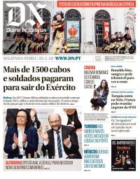 capa Diário de Notícias de 22 janeiro 2018