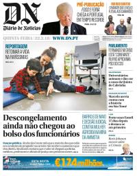capa Diário de Notícias de 22 fevereiro 2018
