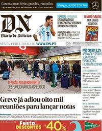 capa Diário de Notícias de 22 junho 2018
