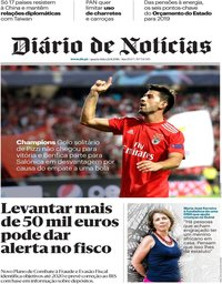 capa Diário de Notícias de 22 agosto 2018