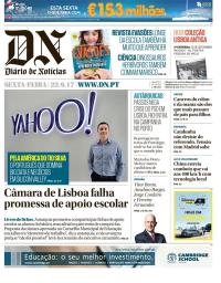 capa Diário de Notícias de 22 setembro 2017