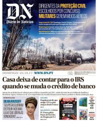 capa Diário de Notícias de 22 outubro 2017
