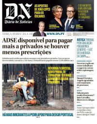 capa Diário de Notícias de 23 janeiro 2018