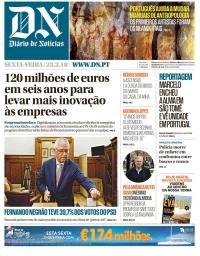 capa Diário de Notícias de 23 fevereiro 2018
