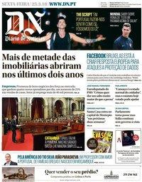 capa Diário de Notícias de 23 março 2018