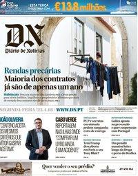 capa Diário de Notícias de 23 abril 2018