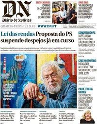 capa Diário de Notícias de 23 maio 2018