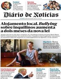 capa Diário de Notícias de 23 agosto 2018