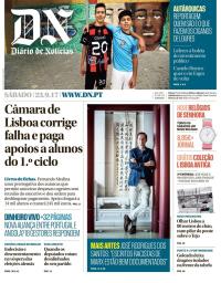 capa Diário de Notícias de 23 setembro 2017