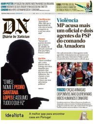 capa Diário de Notícias de 23 outubro 2017