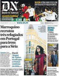 capa Diário de Notícias de 24 março 2018