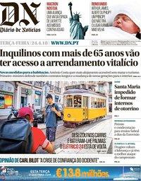 capa Diário de Notícias de 24 abril 2018