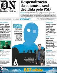 capa Diário de Notícias de 24 maio 2018