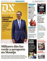 capa Diário de Notícias de 24 setembro 2017