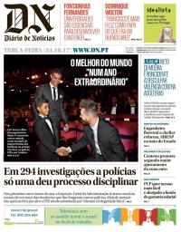 capa Diário de Notícias de 24 outubro 2017