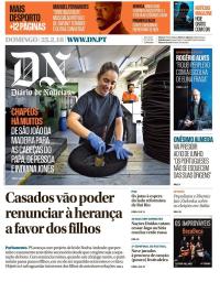capa Diário de Notícias de 25 fevereiro 2018
