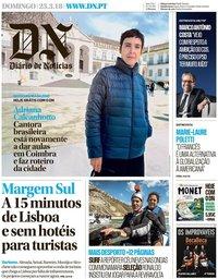 capa Diário de Notícias de 25 março 2018