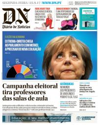 capa Diário de Notícias de 25 setembro 2017