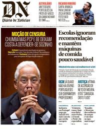 capa Diário de Notícias de 25 outubro 2017