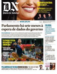 capa Diário de Notícias de 26 janeiro 2018