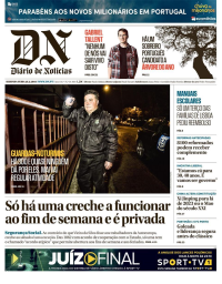 capa Diário de Notícias de 26 fevereiro 2018
