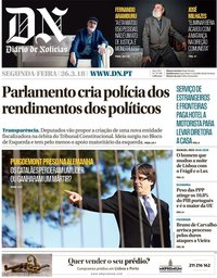 capa Diário de Notícias de 26 março 2018