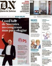 capa Diário de Notícias de 26 maio 2018