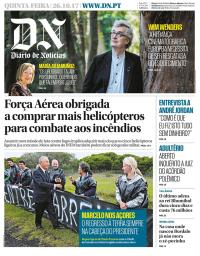 capa Diário de Notícias de 26 outubro 2017