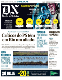 capa Diário de Notícias de 27 janeiro 2018