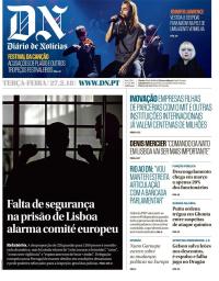 capa Diário de Notícias de 27 fevereiro 2018
