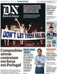 capa Diário de Notícias de 27 maio 2018