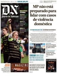 capa Diário de Notícias de 28 janeiro 2018
