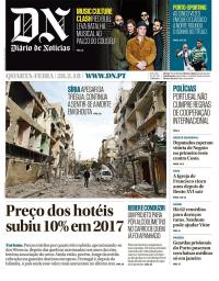 capa Diário de Notícias de 28 fevereiro 2018