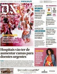 capa Diário de Notícias de 28 março 2018