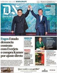 capa Diário de Notícias de 28 abril 2018