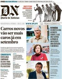 capa Diário de Notícias de 28 maio 2018