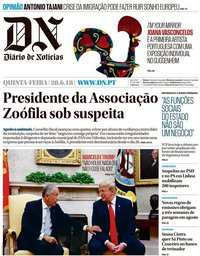 capa Diário de Notícias de 28 junho 2018