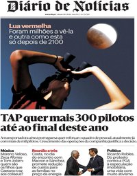 capa Diário de Notícias de 28 julho 2018