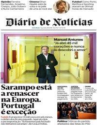 capa Diário de Notícias de 28 agosto 2018