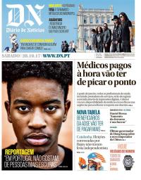 capa Diário de Notícias de 28 outubro 2017
