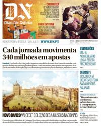 capa Diário de Notícias de 29 janeiro 2018