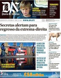 capa Diário de Notícias de 29 março 2018