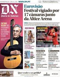 capa Diário de Notícias de 29 abril 2018