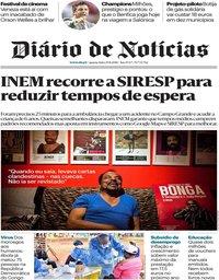 capa Diário de Notícias de 29 agosto 2018